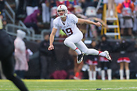 EUGENE, OR - NOVEMBER 1, 2014:  Jordan Williamson during Stanford's game against Oregon. The Ducks defeated the Cardinal 45-16.