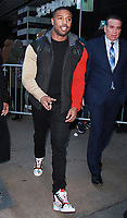 NEW YORK, NY - February 13: Michael B. Jordan at Good Morning America promoting Black Panther in New York City on February 13, 2018. Credit: RW/MediaPunch