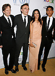LOS ANGELES, CA. - January 24: Producer Christian Colson, Director Danny Boyle, actress Freida Pinto and actor Dev Patel arrive at the 20th Annual Producer's Guild Awards at the The Hollywood Palladium on January 24, 2009 in Los Angeles, California.