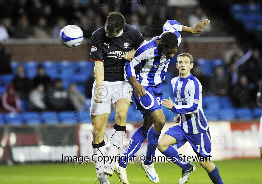 25/10/2008  Copyright Pic: James Stewart.File Name : sct_jspa19_kilmarnock_v_falkirk.DONOVAN SIMMONDS SCORES KILMARNOCK'S GOAL.James Stewart Photo Agency 19 Carronlea Drive, Falkirk. FK2 8DN      Vat Reg No. 607 6932 25.Studio      : +44 (0)1324 611191 .Mobile      : +44 (0)7721 416997.E-mail  :  jim@jspa.co.uk.If you require further information then contact Jim Stewart on any of the numbers above........