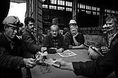 Szczecin 17 July 2008 Poland.<br /> The Szczecin shipyard.<br /> The Polish shipyard industry is in a deep crisis. The Gdansk and Szczecin shipyards are under the threat of liquidation. The battle between the Polish government, creditors and European Union rages on. Spyard workers live under immense pressure of dissmissals. They are completely unsure of their future; they leave, search for work in England, Irland, Norway. During last two months over 25 % of workers left the Szczecin shipyard. The trade union Solidarnosc, with its cradle shipyard in Gdansk fought for free Poland 27 years ago. Today it fights for the survival of the shipyard.It organizes manifestations and pickets.<br /> ( &copy; Filip Cwik / Napo Images for Newsweek Poland )<br /> <br /> Szczecin 17 lipca 2008 Polska.<br /> Polski przemysl stoczniowy pograzony jest w glebokim kryzysie. Stoczniom z Gdanska i Szczecina grozi likwidacja. Gra sie toczy pomiedzy Polskim rzadem, wierzycielami a Unia Europejska. Stoczniowcom groza zwolnienia grupowe. Nie sa pewni przyszlosci; odchodza, wyjezdzaja do Anglii, Irlandii, Norwegii.  W ciagu dwoch miesiecy ze stoczni Szczecinskiej zwolnilo sie 25% pracownikow. Zwiazek zawodowy Solidarnosc, ktorej kolebka jest zaklad w Gdansku 27 lat temu walczyl o wolna Polske, dzis walczy o utrzymanie zakladu pracy. Organizuje protesty manifestacje i pikiety.<br /> <br /> ( &copy; Filip Cwik / Napo Images dla Newsweek Polska )