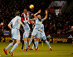 Leon Clarke of Sheffield Utd heads towards goal during the Championship match at Bramall Lane Stadium, Sheffield. Picture date 26th December 2017. Picture credit should read: Simon Bellis/Sportimage