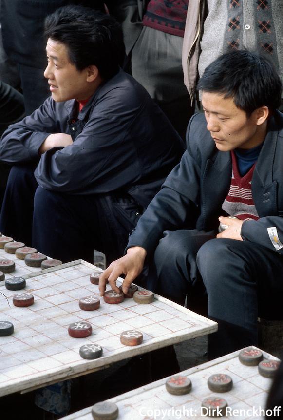 China, Xi'An, chinesisches Schachspiel (Xiang Qi)