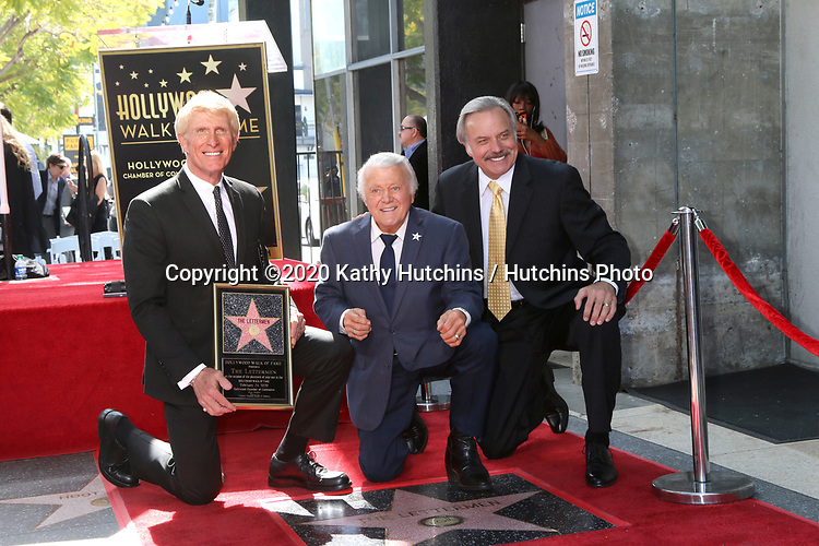 LOS ANGELES - FEB 24:  Donovan Tea, Tony Butala, Mark Preston at the The Lettermen Star Ceremony on the Hollywood Walk of Fame on February 24, 2019 in Los Angeles, CA