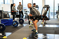 Mike van der Hoorn of Swansea City in the gym during the Swansea City Training at The Fairwood Training Ground in Swansea, Wales, UK. Tuesday 05 February 2019