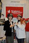 """Another World's Lauri Landry """"Nicole Love"""" poses with Jane Elissa holding Jane's new book """"Diary of a Lollipop in a Peanut Factory"""" as they raise money for Leukemia and Cancer Research. Photo by Sue Coflin/Max Photos)"""