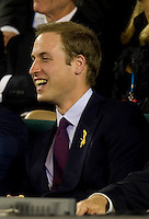 Prince William watching the post match interview after Roger Federer (SUI) (1) played against Victor Hanescu (ROU) in the Second Round of the Mens Singles. Federer beat Hanescu 6-2 6--3 6-2..International Tennis - Australian Open Tennis - Thur 21 Jan 2010 - Melbourne Park - Melbourne - Australia ..© Frey - AMN Images, 1st Floor, Barry House, 20-22 Worple Road, London, SW19 4DH.Tel - +44 20 8947 0100.mfrey@advantagemedianet.com