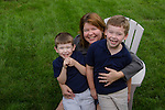 Kris and her boys, Nate and Zach, at Barb and Richard's home, Columbus, Ohio, USA