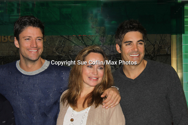 "Days of our Lives cast James Scott, Crystal Chappell and Galen Gering at a book signing for ""Days Of Our Lives: A celebration in Photos - 45 years"" on February 25, 2011 at the NBC Experience Store, Rockefeller Center, New York City, New York. (Photo by Sue Coflin/Max Photos)"
