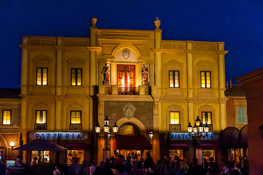 Italy Pavilion, World Showcase, Epcot, Walt Disney World, Orlando, Florida USA