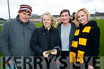 Bernard McCarthy, Eileen Buckley, Alice Culloty and Claire Buckley, pictured at the Garvey's Senior Football Championship, Dr Crokes v South Kerry, at the Austin Stack Park, Tralee on Sunday last.