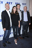NEW YORK, NY-October 30: Joel Fields, Matthew Rhys, Keri Russell, Joe Weisberg at 92Y presents FX's series The Americans at 92nd Street Y in New York.October 30, 2016. Credit:RW/MediaPunch