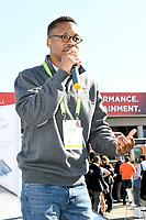 LAS VEGAS, NV - JANUARY 10: Wasalu Jaco professionally known as Lupe Fiasco speaks at the Zero Mass Water Booth during CES 2019 in Las Vegas, Nevada on January 10, 209.   <br /> CAP/MPI/DAM<br /> ©DAM/MPI/Capital Pictures