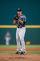 Tampa Yankees starting pitcher Brody Koerner (26) gets ready to deliver a pitch during the second game of a doubleheader against the Bradenton Marauders on June 14, 2017 at LECOM Park in Bradenton, Florida.  Tampa defeated Bradenton 5-1.  (Mike Janes/Four Seam Images)