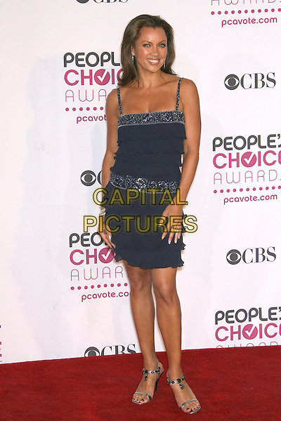 VANESSA WILLIAMS.The 33rd Annual People's Choice Awards - Press Room held at The Shrine Auditorium, Los Angeles, California, USA..January 9th, 2007.full length blue dress ruffles layers layered.CAP/ADM/ZL.©Zach Lipp/AdMedia/Capital Pictures