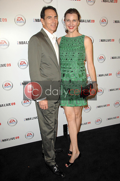 Brenda Strong and husband Tom<br />at the Launch Party for NBA Live 09. Beso, Hollywood, CA. 09-26-08<br />Dave Edwards/DailyCeleb.com 818-249-4998