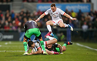 Saturday 7th December 2019 | Ulster Rugby vs Harlequins<br /> <br /> Jacob Stockdale is tackled by Joe Marler during the Heineken Champions Cup Round 3 clash in Pool 3, between Ulster Rugby and Harlequins at Kingspan Stadium, Ravenhill Park, Belfast, Northern Ireland. Photo by John Dickson / DICKSONDIGITAL