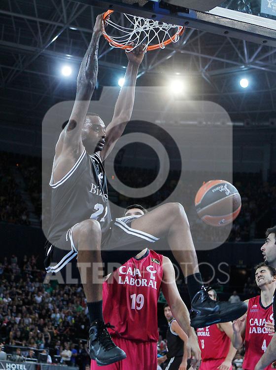 Bizkaia Bilbao Basket's D'or Fischer during Supercopa ACB Semifinal match.September 30,2011. (ALTERPHOTOS/Acero)
