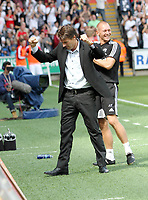 Barclays Premier League, Swansea City (white) V West Ham United, 05/08/12, Liberty Stadium Swansea. <br />