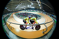 Picture by Alex Whitehead/SWpix.com - 25/03/2018 - Cycling - 2018 UCI Para-Cycling Track World Championships - Rio de Janeiro Municipal Velodrome, Barra da Tijuca, Brazil - Marcelo Lemos Andrade piloted by Marcos Christian Novello of Brazil compete in the Men's Tandem Sprint qualifying.