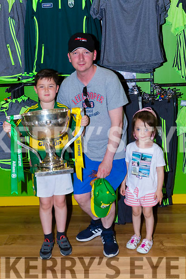 Ryan Noel and Holly Fealy Brosna  at the Kerry GAA shop on Sunday