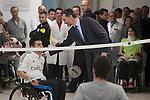 King Felipe VI of Spain visits  the Paraplegic Hospital in Toledo, Spain. February 10, 2015. (ALTERPHOTOS/Victor Blanco)