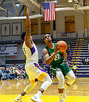University at Albany men's basketball defeats Binghamton University 71-54  at the  SEFCU Arena, Feb. 27, 2018. Everson Davis (#22) drives. (Bruce Dudek / Cal Sport Media/Eclipse Sportswire)