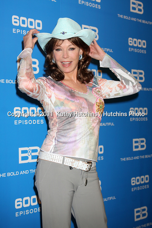 LOS ANGELES - FEB 7:  Lesley-Anne Down at the 6000th Show Celebration at The Bold & The Beautiful at CBS Television City on February 7, 2011 in Los Angeles, CA