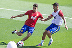 Marc Bartra and Marco Asensio during training of the spanish national football team in the city of football of Las Rozas in Madrid, Spain. August 30, 2017. (ALTERPHOTOS/Rodrigo Jimenez)