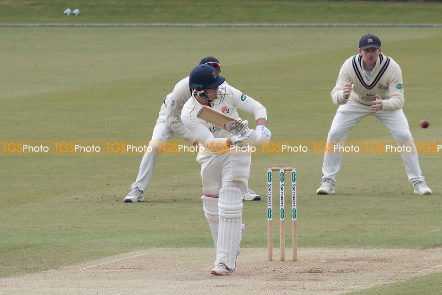 Rob Jones of Lancashire CCC clips square of the wicket during Middlesex CCC vs Lancashire CCC, Specsavers County Championship Division 2 Cricket at Lord's Cricket Ground on 13th April 2019