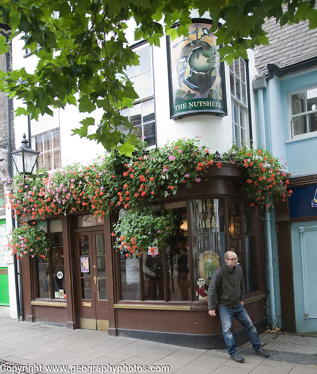 The Nutshell claims to Britain's smallest pub, Bury St Edmunds, Suffolk, England