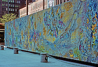 Chicago: Chagall Mosaic, First National Bank Building--Plaza. Photo '78.