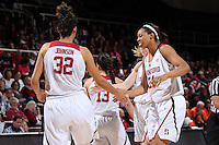 STANFORD, CA - February 26, 2016: Stanford Cardinal defeats the Oregon State Beavers 76-54 at Maples Pavilion. The win was the 1000th win for the Stanford Women's Basketball program.