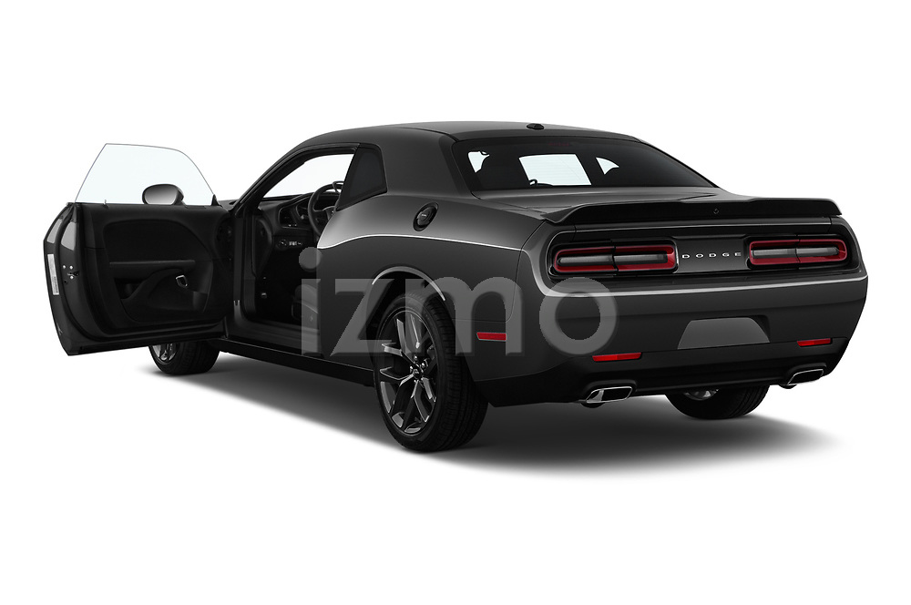 Car images close up view of a 2019 Dodge challenger SXT 2 Door Coupe doors
