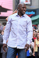 "Football player Donald Driver from ""Dancing With the Stars"" Season 14 outside ABC's ""Good Morning America"" Times Square studio in New York, 23.05.2012..Credit: Rolf Mueller/face to face / Mediapunchinc"