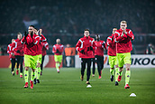 7th December 2017, Rajko Mitic Stadium, Belgrade, Serbia, UEFA Europa League football, Red Star Belgrade versus FC Cologne; Players of Fc Koeln prepare to warm up before the match