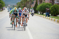 the 5 men breakaway of the day led by André Greipel (DEU/Lotto-Belisol)<br /> <br /> Tour of Turkey 2014<br /> stage 6