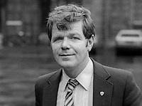 John Joe McCartin, TD, Fine Gael, politician, Rep of Ireland, at December 1982 Ard Fheis, party conference, Dublin, 198210000283b<br /><br />Copyright Image from Victor Patterson, 54 Dorchester Park, <br />Belfast, UK, BT9 6RJ<br /><br />t1: +44 28 9066 1296 (from Rep of Ireland 048 9066 1296)<br />t2: +44 28 9002 2446 (from Rep of Ireland 048 9002 2446)<br />m: +44 7802 353836<br /><br />victorpatterson@me.com<br />www.victorpatterson.com<br /><br />Please see my Terms and Conditions of Use at VICTORPATTERSON.COM. It is IMPORTANT that you familiarise yourself with them.<br /><br />Images used on the Internet must be visibly watermarked i.e. &copy;VICTORPATTERSON.COM within the body of the image and copyright metadata must not be deleted. Images used on the Internet have a size restriction of 4kbs and are chargeable at the then current NUJ rates.<br /><br />This image is only available for the use of the download recipient i.e. television station, newspaper, magazine, book publisher, etc, and must not be passed on to any third party. It is also downloaded on condition that each and every usage is notified within 7 days to victorpatterson@me.com<br /><br />The right of Victor Patterson to be identified as the author is asserted in accordance with The Copyright Designs And Patents Act (1988).