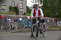 2106/15<br /> <br /> A rider stops for a beer in Harrington.<br /> <br /> Three Thousand cyclists riding vintage machines, all older than 1987, take to the hills of the Peak District in Derbyshire, as part of the Eroica Britannia Festival held in Bakewell this weekend.<br /> <br /> All Rights Reserved: F Stop Press Ltd. +44(0)1335 418629   www.fstoppress.com.