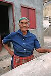 Rencontre avec une habitante du village de Corvo. ile de Sao Antao