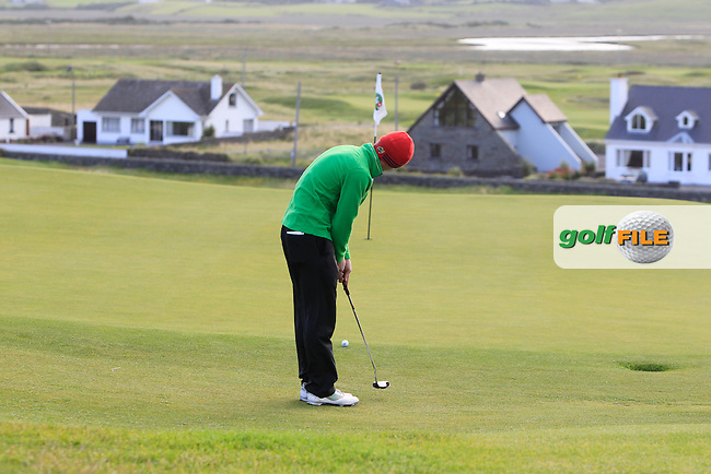 Philip Spratt (West Waterford) on the 1st green during Round 2 of the South of Ireland Amateur Open Championship at LaHinch Golf Club on Thursday 23rd July 2015.<br /> Picture:  Golffile | Thos Caffrey