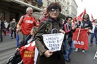 .Roma, 27 Ottobre 2012.Manifestazione contro i tagli e la politica del governo Monti.