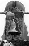 Mission Bell tower California, Bennett, Black and White Photographs, Black & White Photo's, B&W Photographs,  B&W, Black and White, Fine Art Photography, photography,  Black and White Pictures, Fine Art Photography by Ron Bennett, Fine Art, Fine Art photography, Art Photography, Copyright RonBennettPhotography.com ©