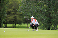 Ross Kenny (Naas) on the 2nd green during round 1 of The Mullingar Scratch Cup in Mullingar Golf Club on Sunday 3rd August 2014.<br /> Picture:  Thos Caffrey / www.golffile.ie