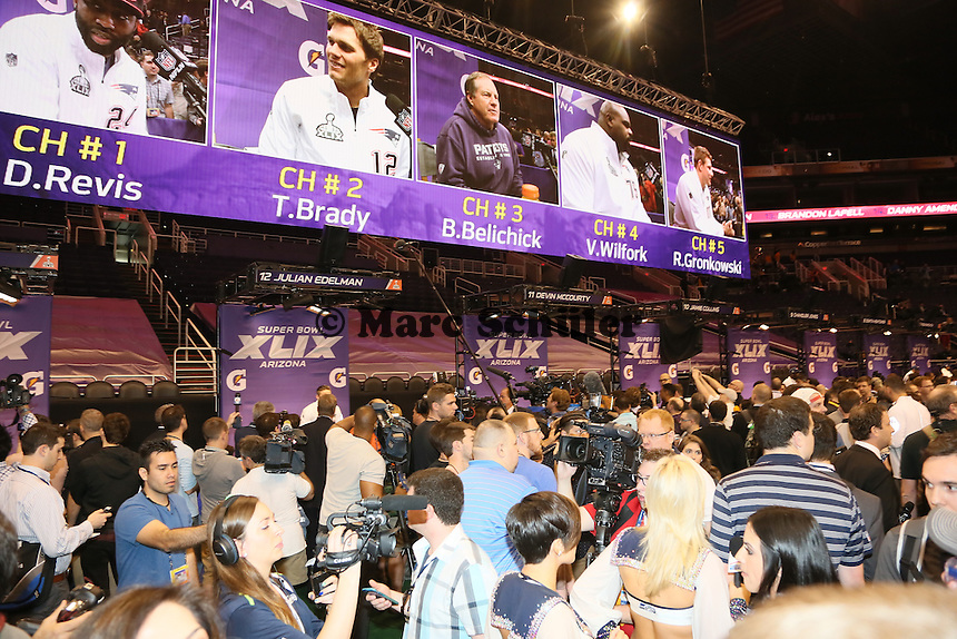 - Super Bowl XLIX Media Day, US Airways Center, Phoenix
