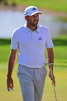 Sergio Garcia (ESP) after sinking his putt on 9 during round 2 of the Honda Classic, PGA National, Palm Beach Gardens, West Palm Beach, Florida, USA. 2/24/2017.<br /> Picture: Golffile | Ken Murray<br /> <br /> <br /> All photo usage must carry mandatory copyright credit (&copy; Golffile | Ken Murray)