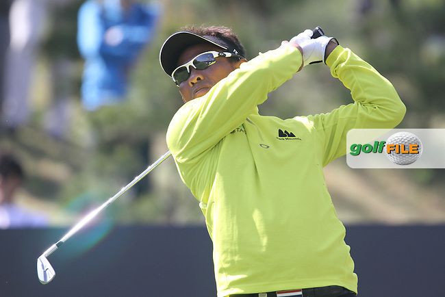 Thongchai Jaidee (THA) on the 7th on Day 1 of the Ballantines Championship 2012 at Blackstone Golf Course, Icheon, Korea...(Photo Jenny Matthews/www.golffile.ie)