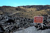 The trail to the north pit 12500' elevation of Mauna Loa volcano Hawaii, USA Volcanoes National Park the Big Island of Hawaii, USA