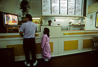 Fish and chips shop on New Zealand's South Island, 1995