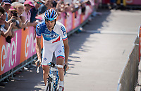 Thibaut Pinot (FRA/FDJ) coming from the sign-on podium<br /> <br /> Stage 20: Pordenone › Asiago (190km)<br /> 100th Giro d'Italia 2017